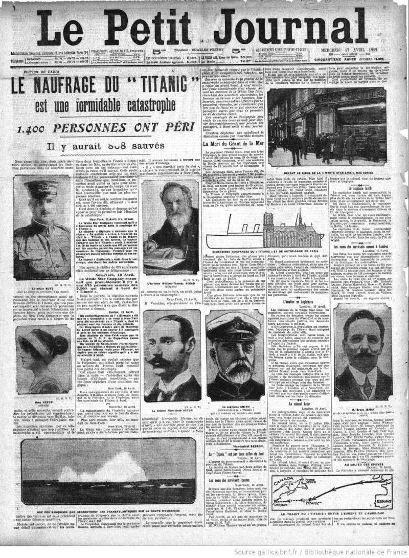 Les articles de journaux sur le naufrage du TITANIC 17_04_13