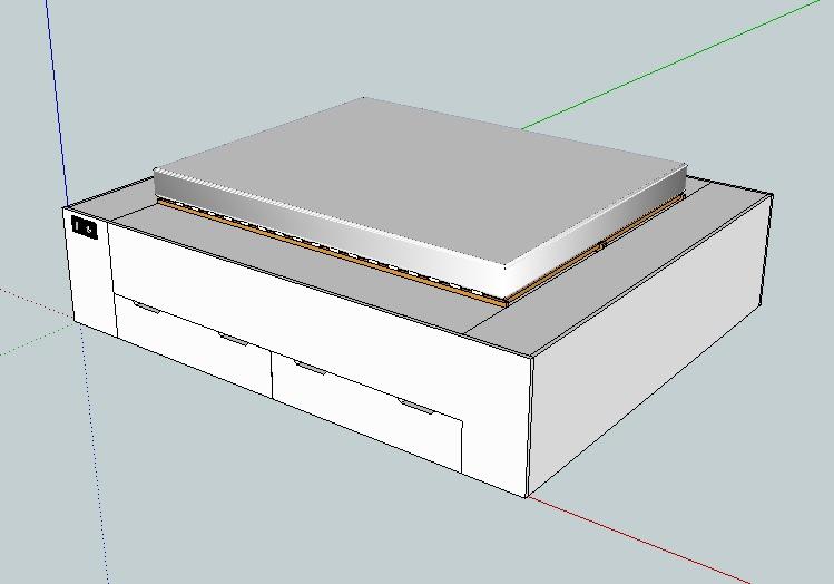 commande de lit double avec tiroirs. Black Bedroom Furniture Sets. Home Design Ideas