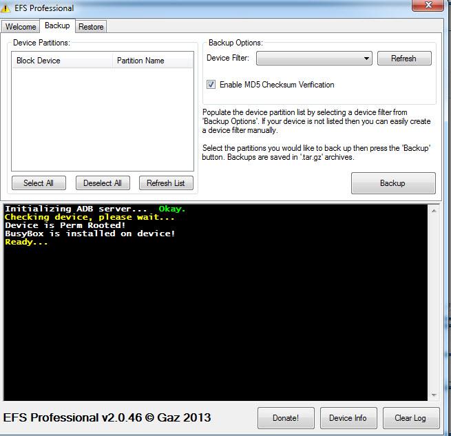 [TUTO] Comment sauvegarder et restaurer le dossier EFS dont son IMEI sur un appareil Samsung Galaxy [15.01.2014] - Page 2 110