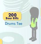 Drums Tee  . Item_612