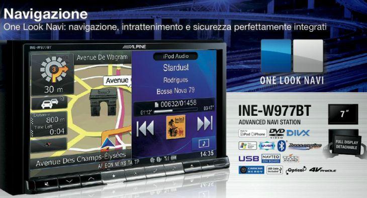 Sistema di navigazione satellitare Uconnect 430N navigatore Ine-w910