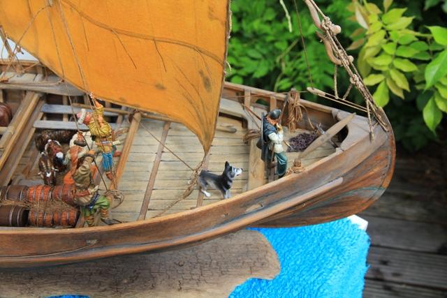 Besatzung eines Wikingerhandelsschiffs (Knarr) Bug10