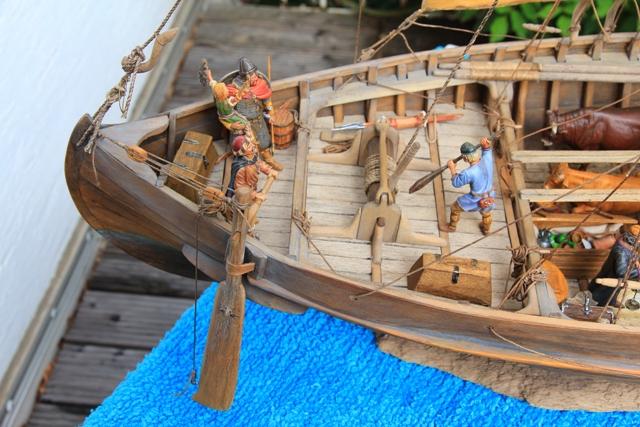 Besatzung eines Wikingerhandelsschiffs (Knarr) Heck10