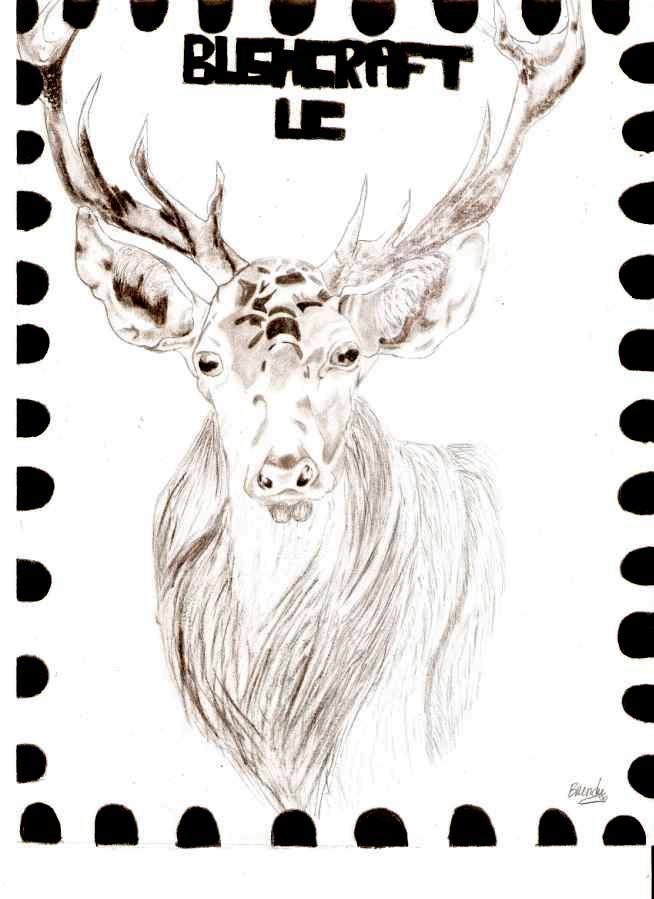 Timbre tête de cerf Cerf12