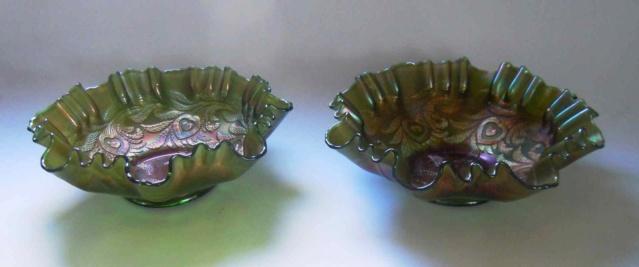 Deux coupes en verre irisé Fenton Carnival glass _copi196