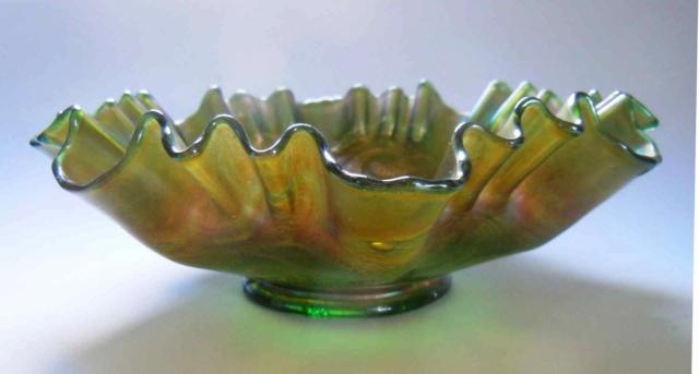 Deux coupes en verre irisé Fenton Carnival glass _copi197