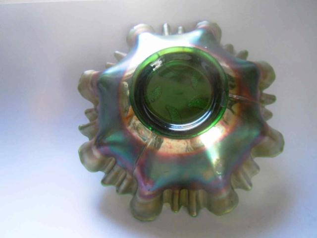 Deux coupes en verre irisé Fenton Carnival glass _copi198