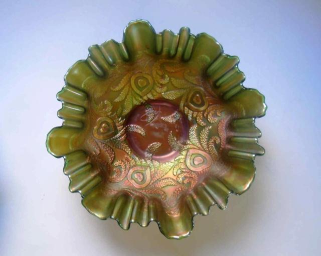 Deux coupes en verre irisé Fenton Carnival glass _copi199