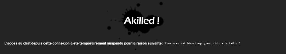 Alerte Ackilled Ikurgf10
