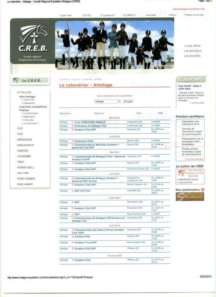 Calendrier 2014 des concours attelages en Bretagne Calend10