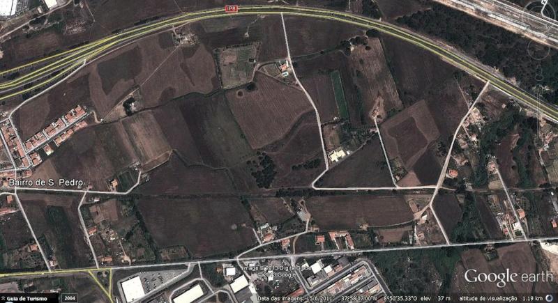 O Shopping Center do Litoral Alentejano e do Terminal Rodoviário em na cidade de Sines Mapa11