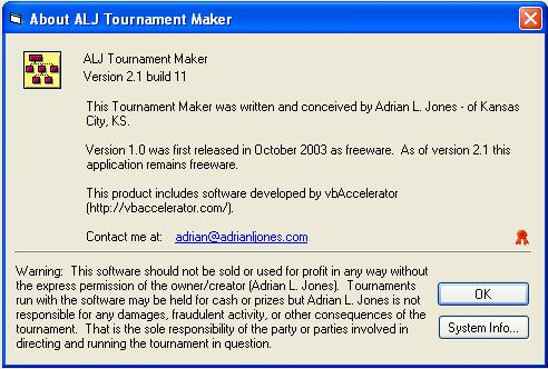 ALJ Tournament Maker Alj10