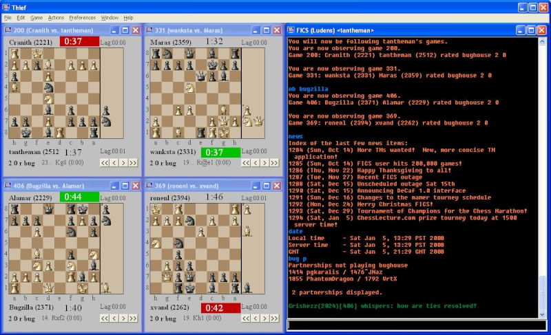 THIEF [A free client for playing chess on the internet] Twobug10