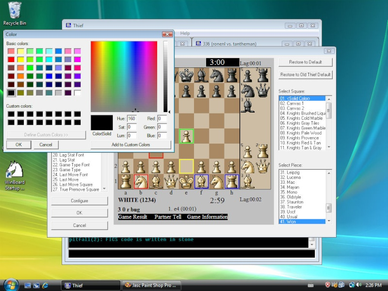 THIEF [A free client for playing chess on the internet] Vistab10