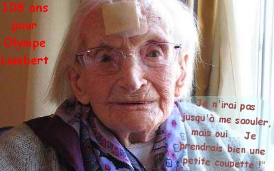 Preuves de vie sur les personnes de 108 ans - Page 20 Olympe11