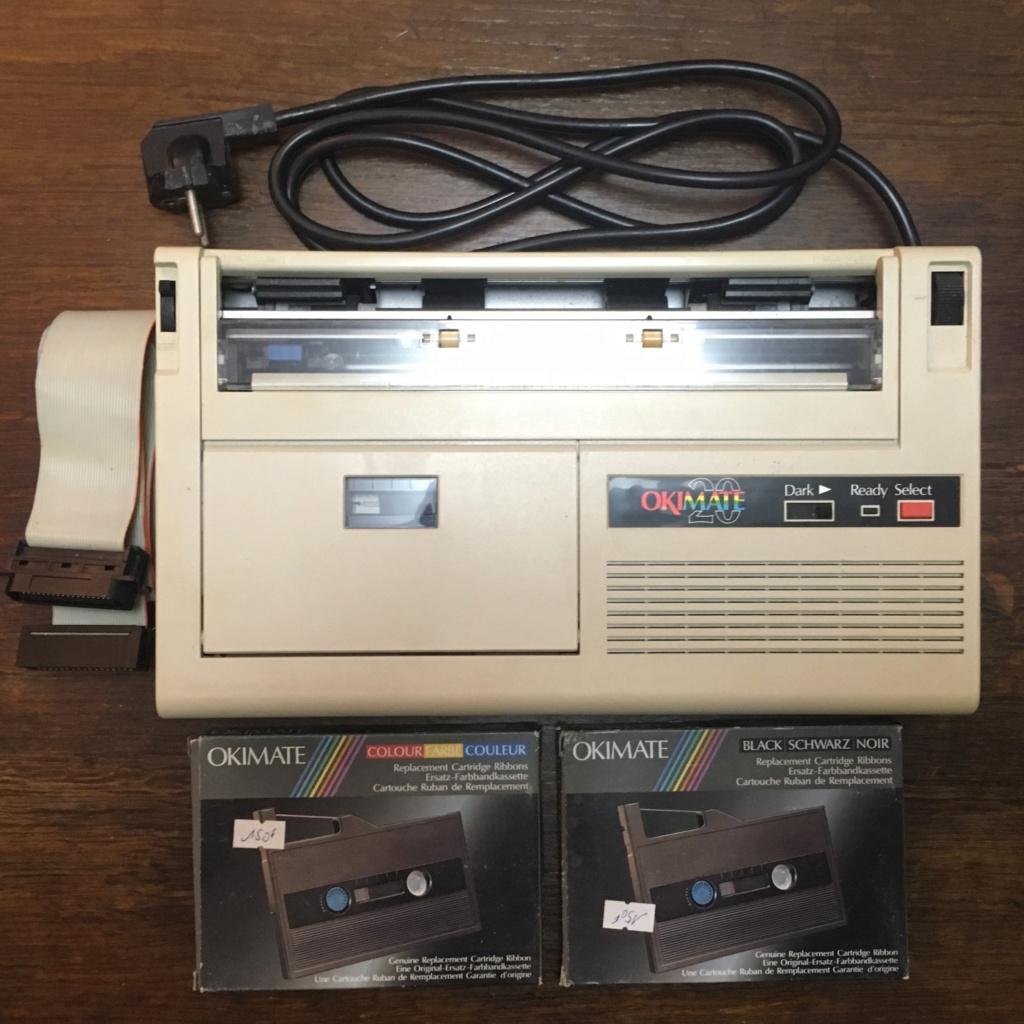 [ESTIM] Imprimante OKI mate 20 + 2 cassettes rubans encreur en boite + câble Centronics Img_7911