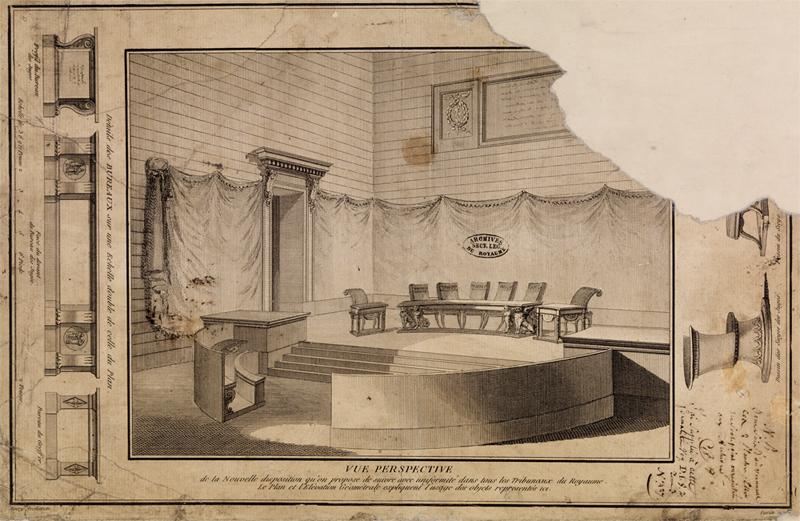 Le palais de Justice de L'île de la Cité, Paris, et la salle du Tribunal révolutionnaire 0005ex10