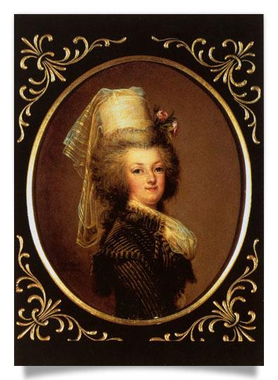 wertmuller - Marie-Antoinette en habit de chasse, ou chemise blanche, par Wertmüller (1788) 022210