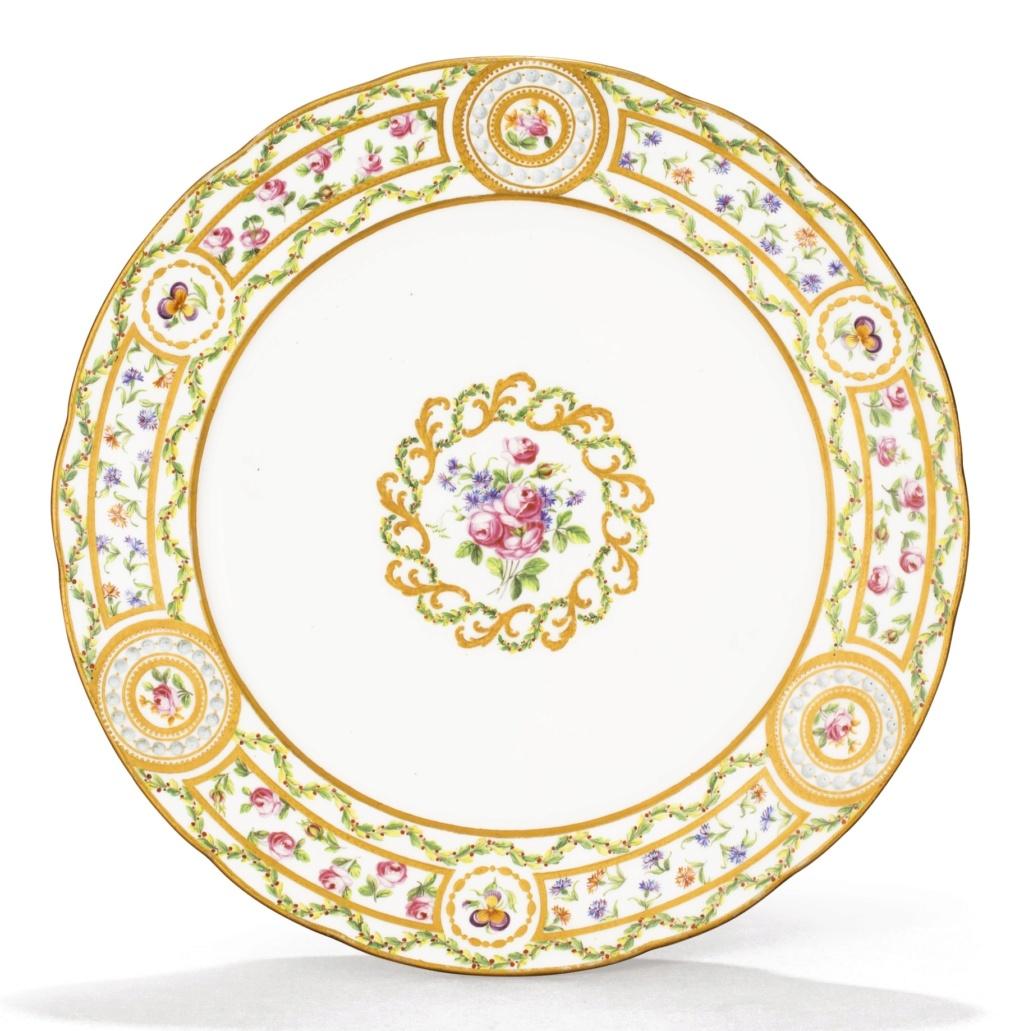 """Le service """"cartels en perles, panneaux en roses et barbeaux'"""" de Marie-Antoinette 059pf110"""