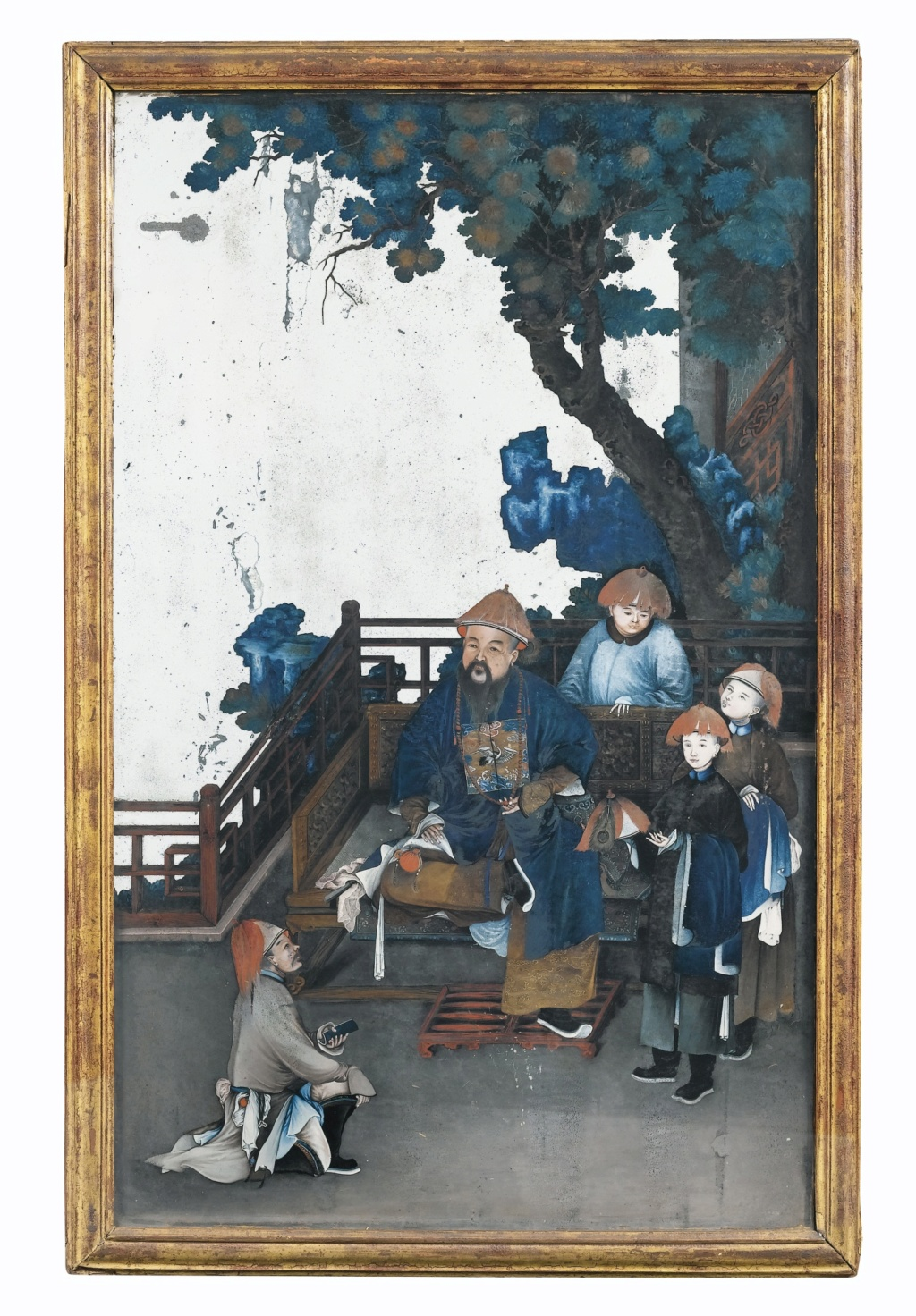 La peinture sous / sur verre chinoise au XVIIIe siècle 117pf110