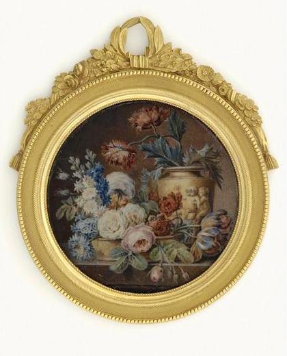 La peinture des fleurs : Sophie de Fuligny-Damas, marquise de Grollier 12-50411