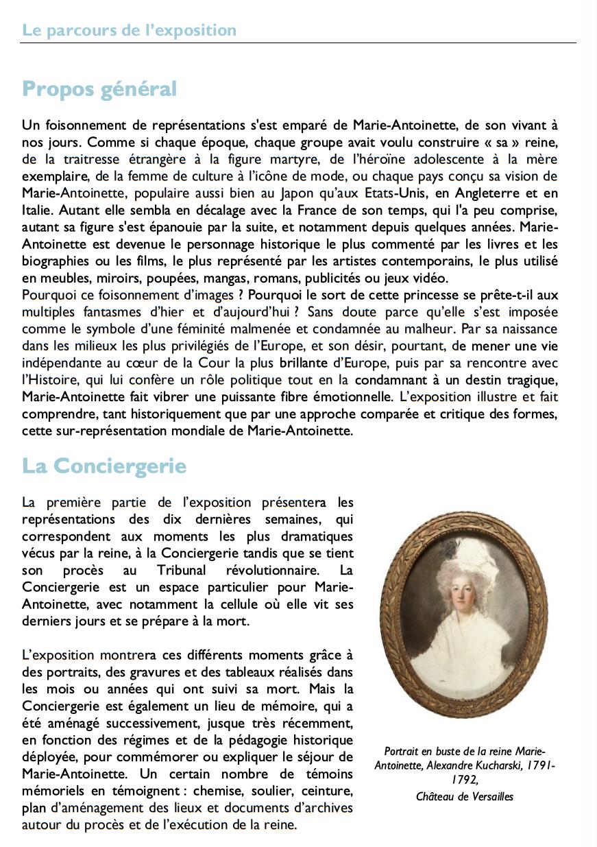 Exposition à la Conciergerie : Marie-Antoinette, métamorphoses d'une image  122