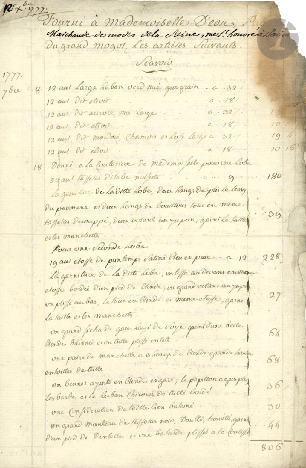Mademoiselle Marie-Jeanne Bertin, dite Rose Bertin - Page 6 127