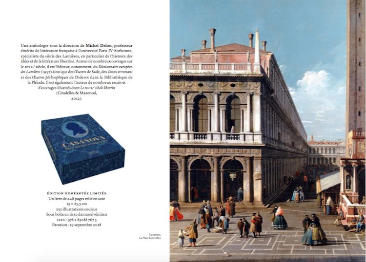 Casanova. Anthologie réunie et présentée par Michel Delon 1310