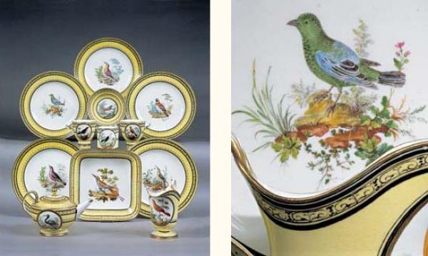 """Seaux à glace """" à trépieds """" en porcelaine de Sèvres  14197110"""