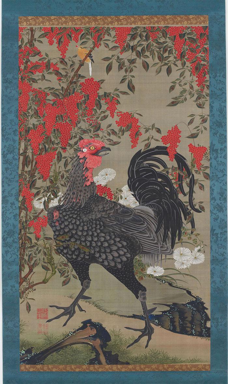 Exposition : Jakuchū (1716-1800), le Royaume coloré des êtres vivants 14_bla10