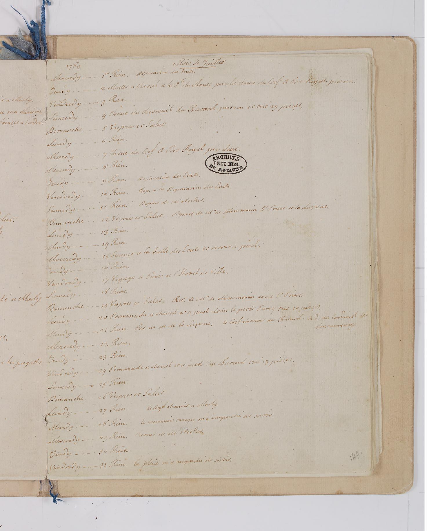 Le Journal du roi Louis XVI et ses Reflexions sur ses entretiens avec Mr le Duc de la Vauguyon 14_jui10