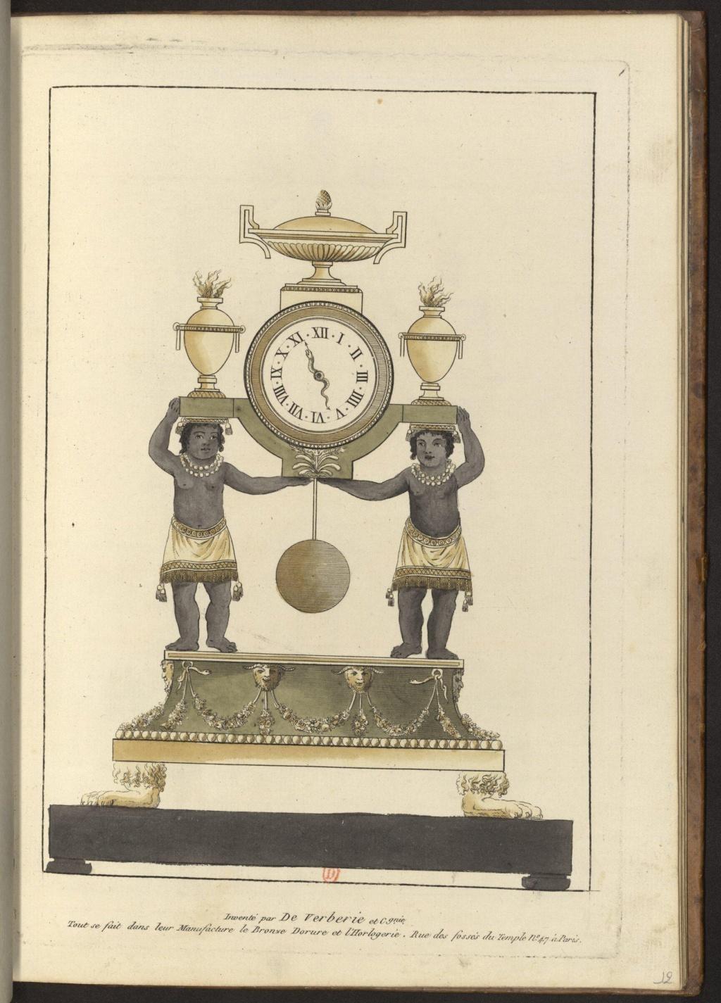 """Les pendules dites """"Au bon sauvage"""" et les créations de Jean-Simon Deverberie : L'Afrique et l'Amérique 15546411"""