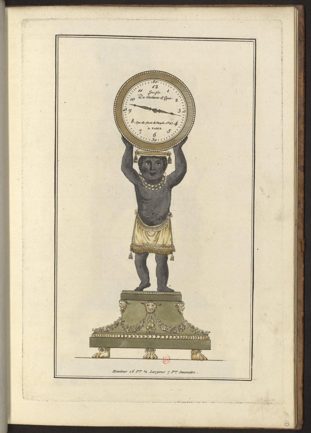 """Les pendules dites """"Au bon sauvage"""" et les créations de Jean-Simon Deverberie : L'Afrique et l'Amérique 15546412"""