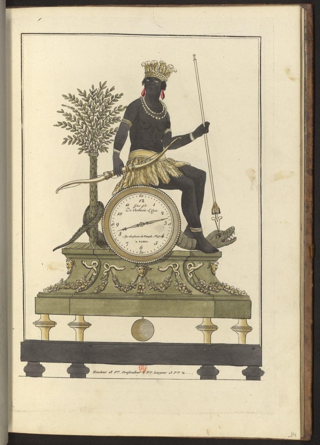 """Les pendules dites """"Au bon sauvage"""" et les créations de Jean-Simon Deverberie : L'Afrique et l'Amérique 15546413"""