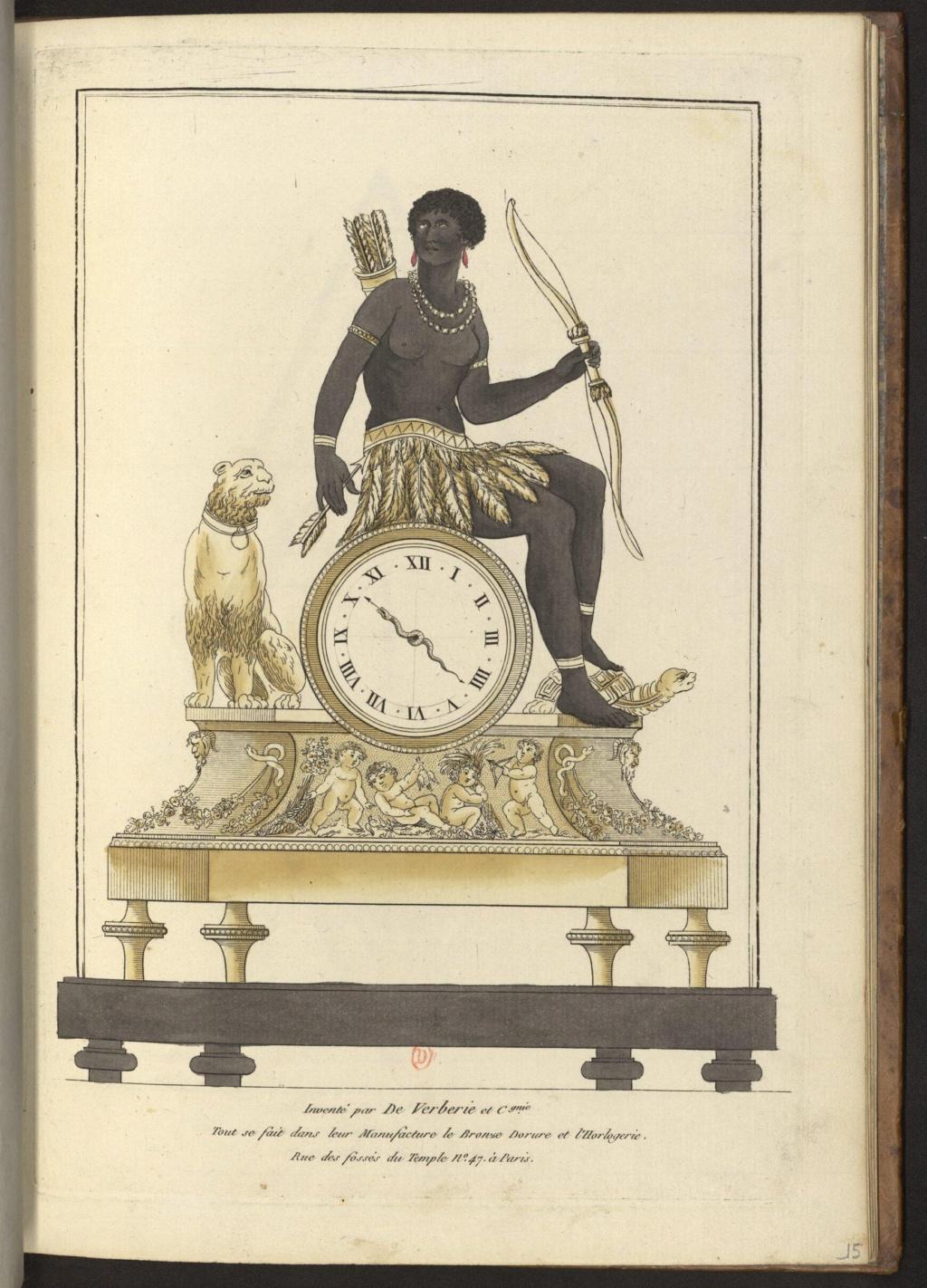 """Les pendules dites """"Au bon sauvage"""" et les créations de Jean-Simon Deverberie : L'Afrique et l'Amérique 15546414"""