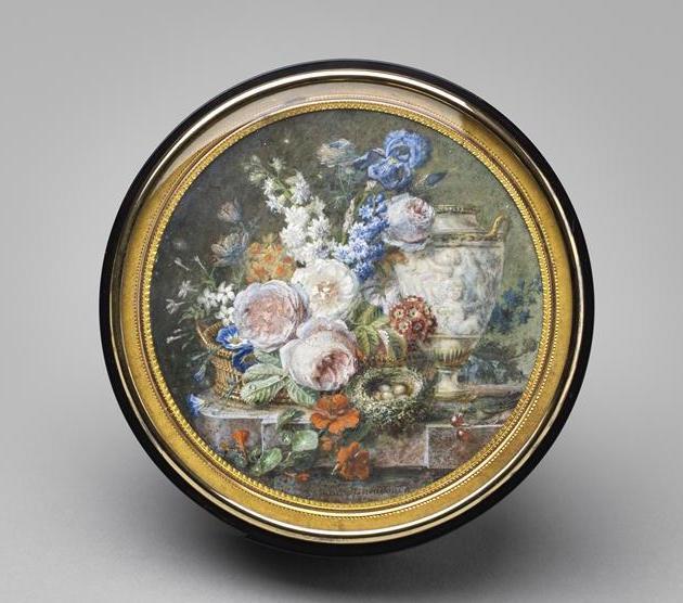 La peinture des fleurs : Sophie de Fuligny-Damas, marquise de Grollier 17-61210