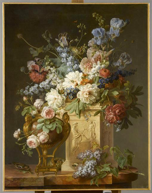 La peinture des fleurs : Sophie de Fuligny-Damas, marquise de Grollier 18-51010