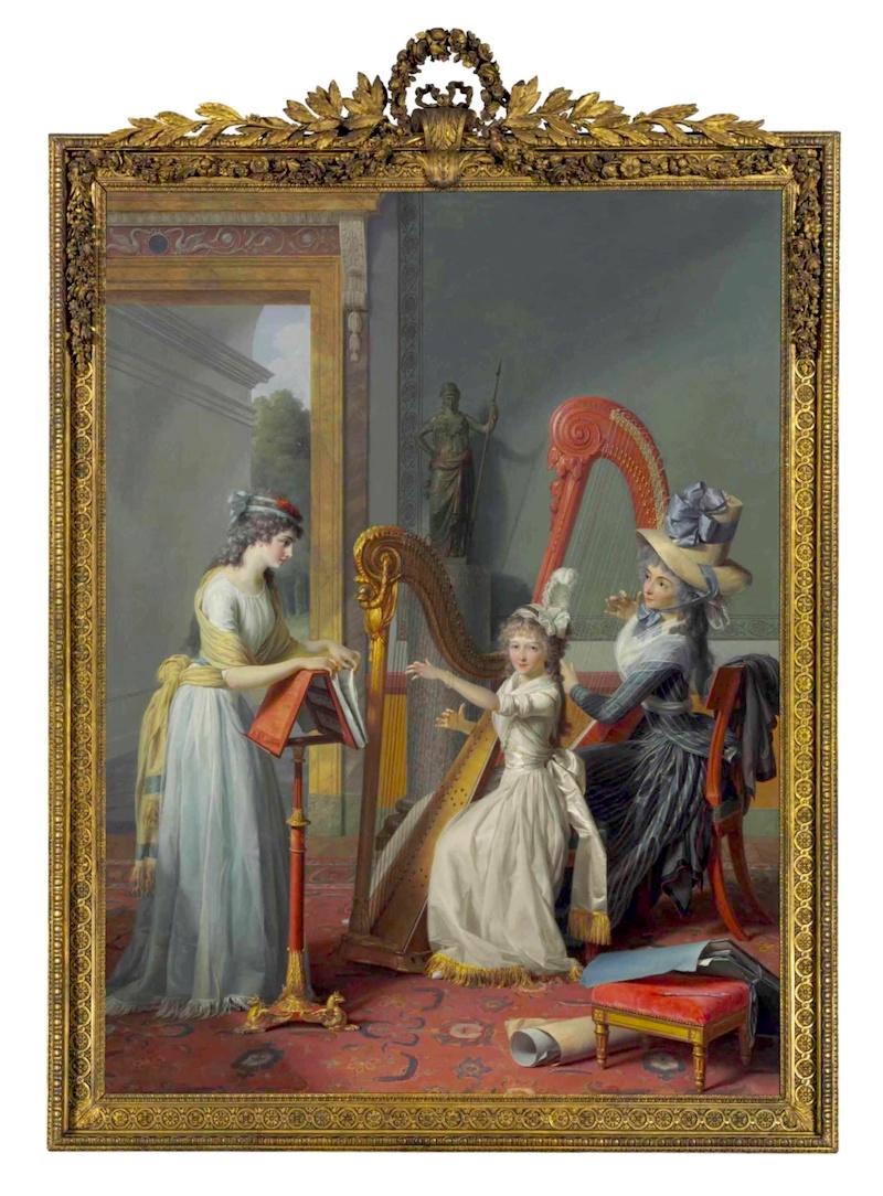 La leçon de harpe. Du peintre Jean-Antoine-Théodore Giroust 2015_n14