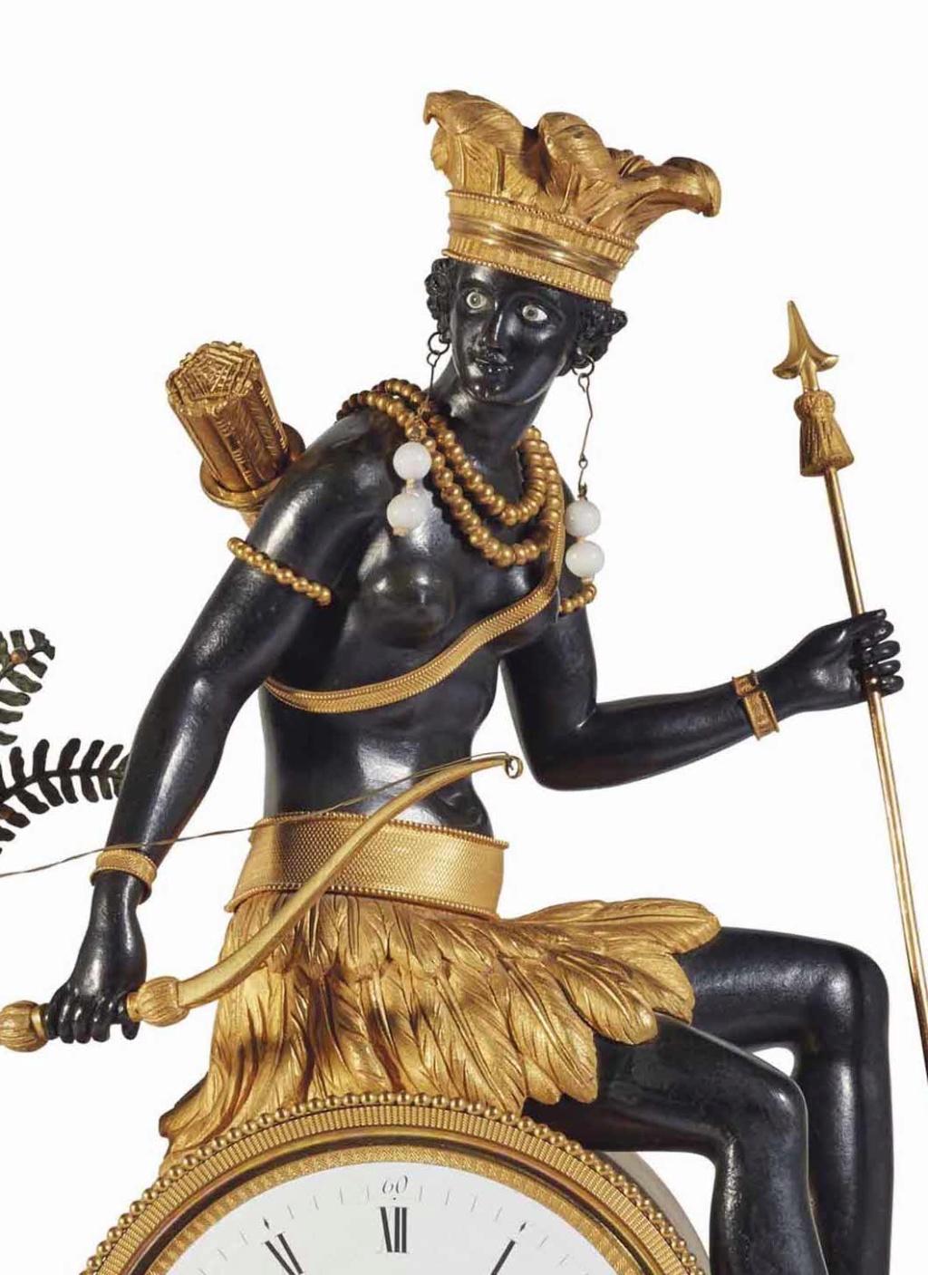 """Les pendules dites """"Au bon sauvage"""" et les créations de Jean-Simon Deverberie : L'Afrique et l'Amérique 2017_p11"""