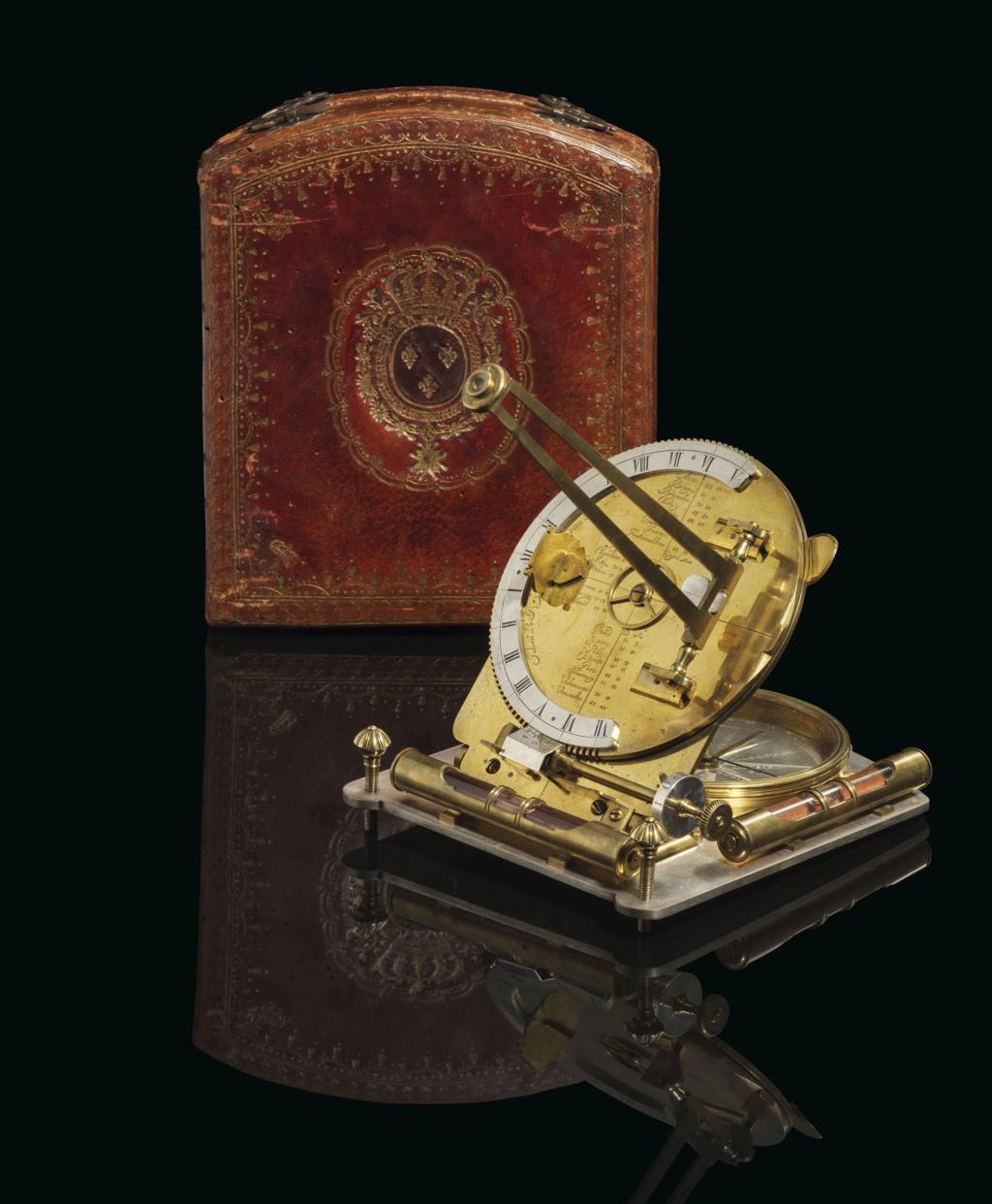 Latitudes et longitudes, les instruments de mesure du temps pour les voyages : chronomètre de marine, cadrans solaires et boussoles du XVIIIe siècle 2019_c40