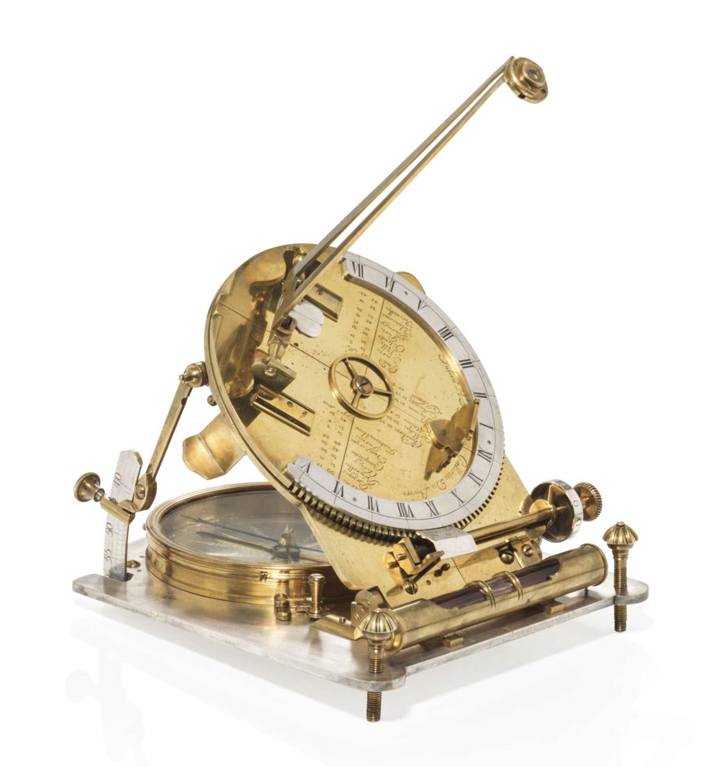 Latitudes et longitudes, les instruments de mesure du temps pour les voyages : chronomètre de marine, cadrans solaires et boussoles du XVIIIe siècle 2019_c41