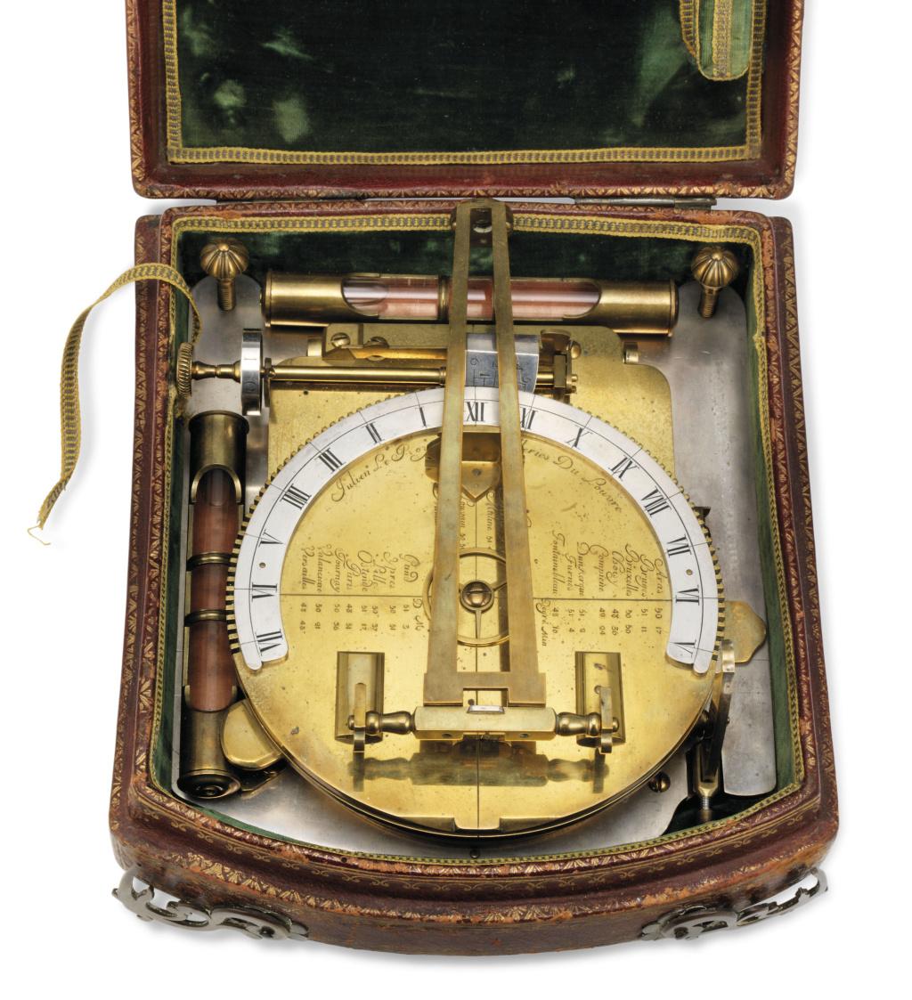 Latitudes et longitudes, les instruments de mesure du temps pour les voyages : chronomètre de marine, cadrans solaires et boussoles du XVIIIe siècle 2019_c44