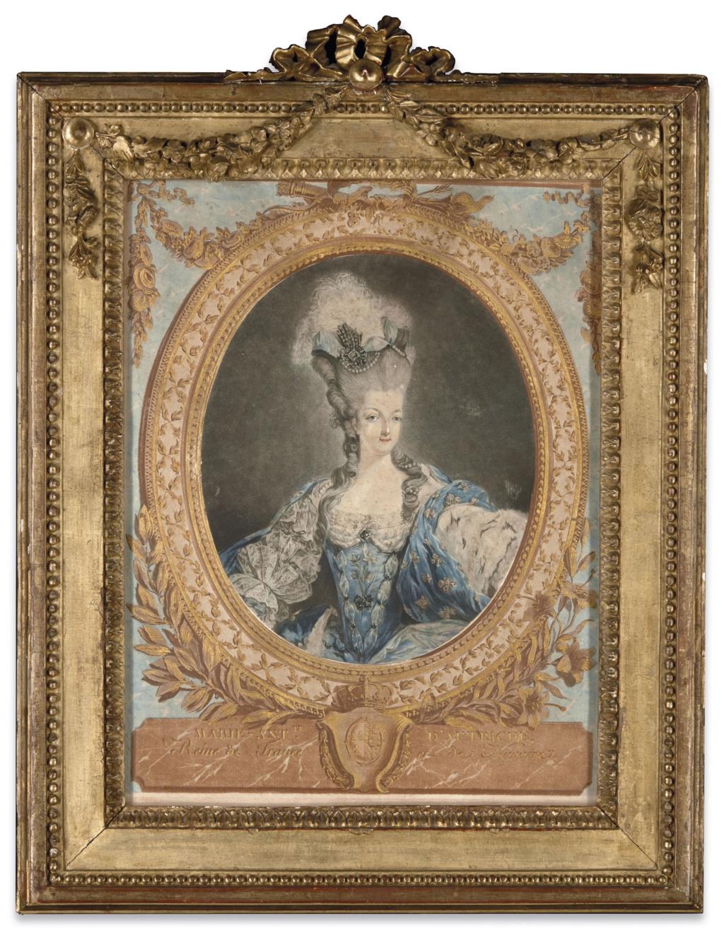 Gravures : Portraits de Marie Antoinette par Jean-François Janinet, d'après Dagoty 2019_p13