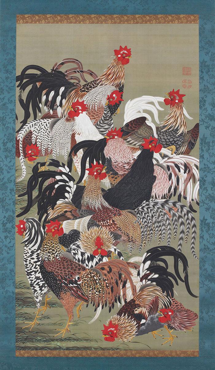 Exposition : Jakuchū (1716-1800), le Royaume coloré des êtres vivants 20_fow10