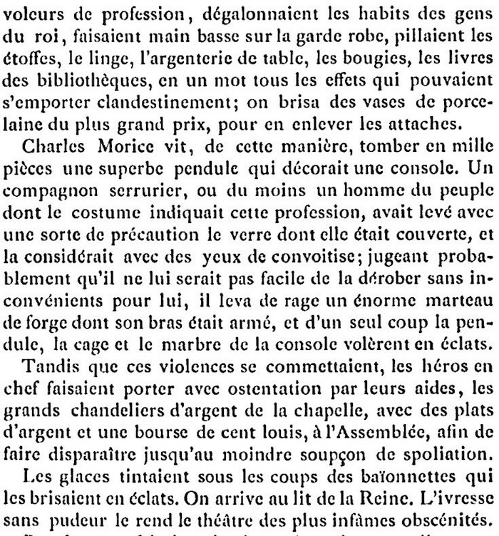 Ventes aux enchères des effets et mobiliers des Tuileries après les pillages du 10 août 1792 212