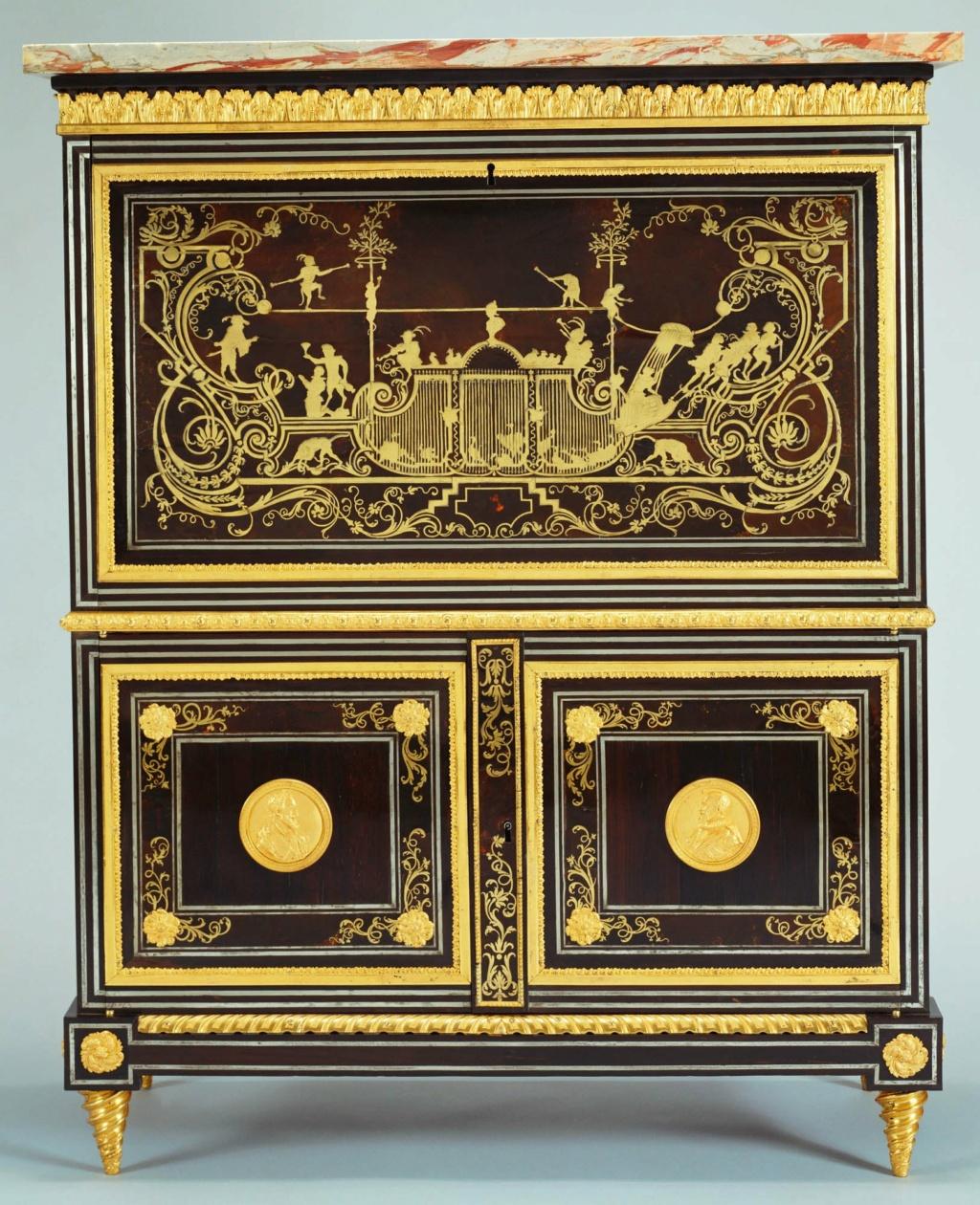 Le mobilier et le renouveau du « style Boulle » dans les années 1770-1780 : Etienne Levasseur et Adam Weisweiler 21575510