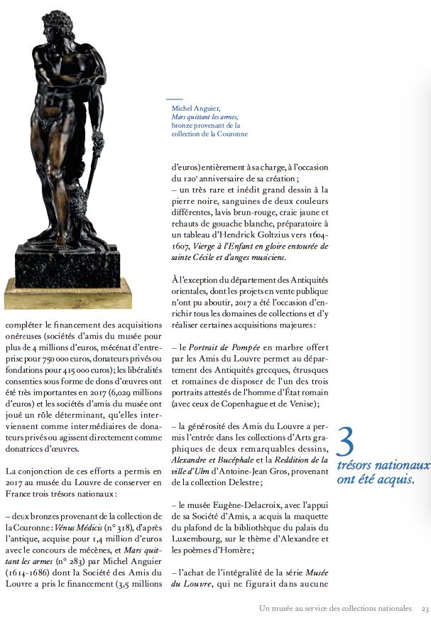 Musées nationaux : conservation et acquisitions, les subventions publiques sont-elles suffisantes ? 216