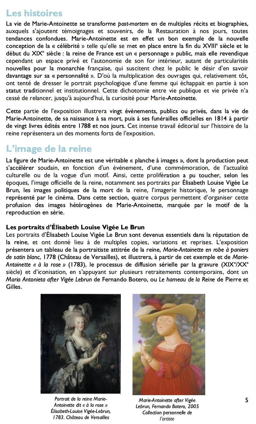 Exposition à la Conciergerie : Marie-Antoinette, métamorphoses d'une image  223