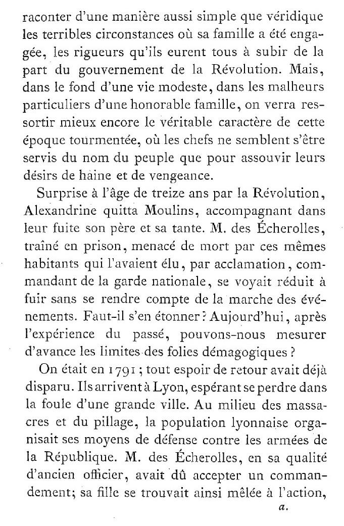 Une famille noble sous la Terreur,  (Mémoires) d'Alexandrine des Écherolles 224