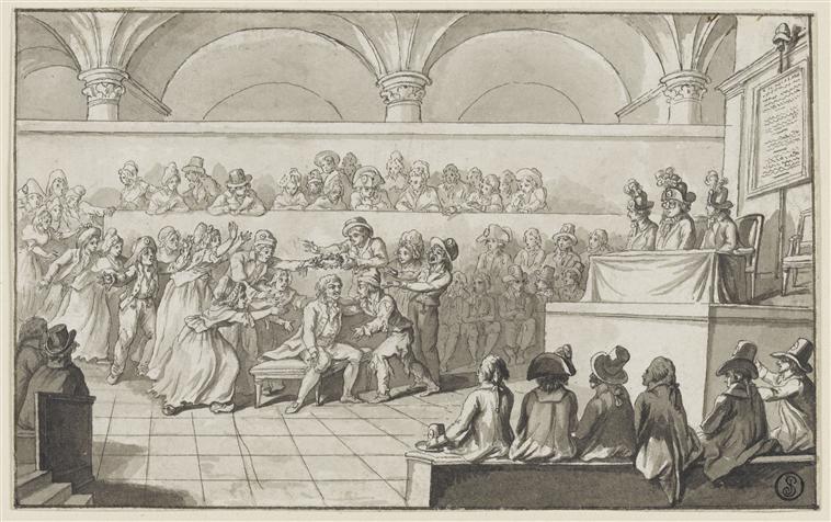 Le palais de Justice de L'île de la Cité, Paris, et la salle du Tribunal révolutionnaire 26489310